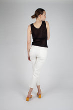 Load image into Gallery viewer, 21634_Black twist front knit tank_MFBBA1