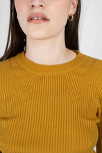 Load image into Gallery viewer, Mustard W ribbed long sleeved knit top
