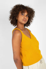 Load image into Gallery viewer, Mustard soft V-neck knit tank1