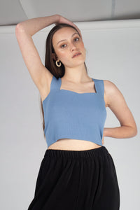 21703_Pale blue thick strap cross back knit tank_MCFBA1