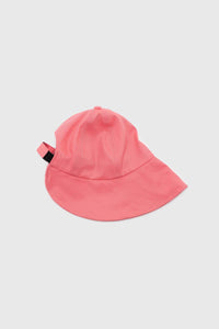 Pink velcro cotton bucket hat1