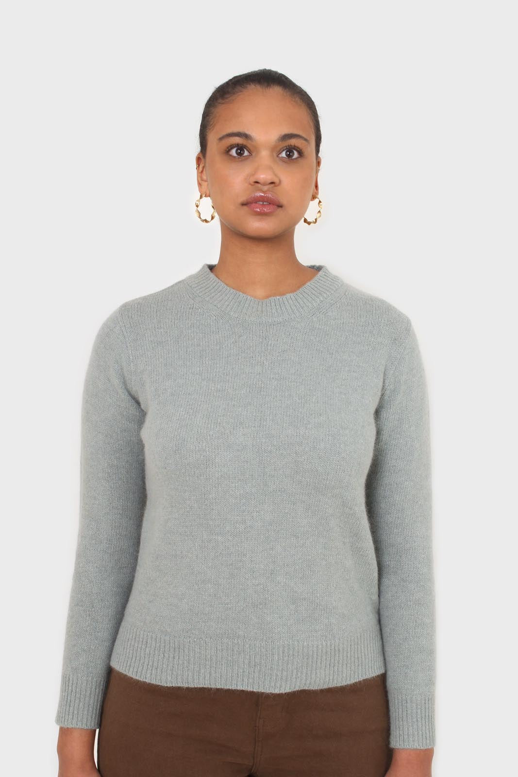 Mint angora crew neck jumper3