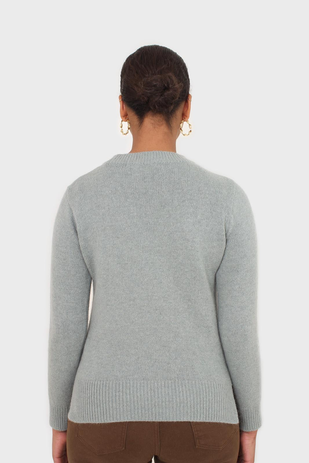 Mint angora crew neck jumper4
