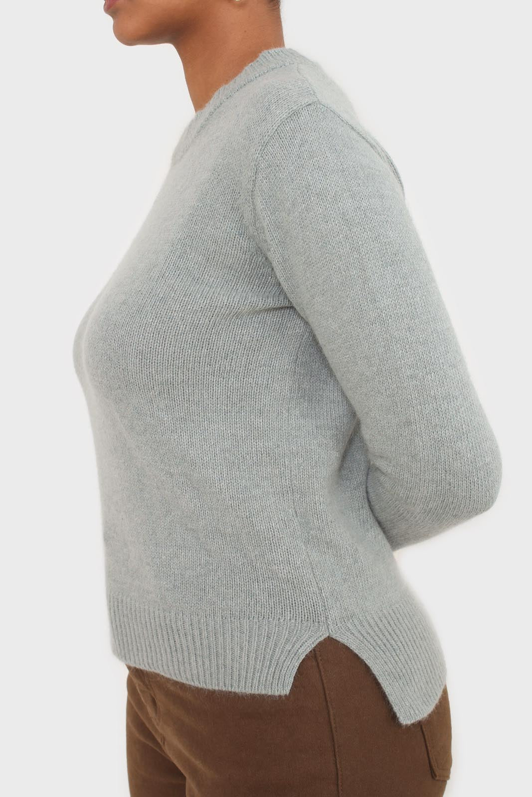 Mint angora crew neck jumper5
