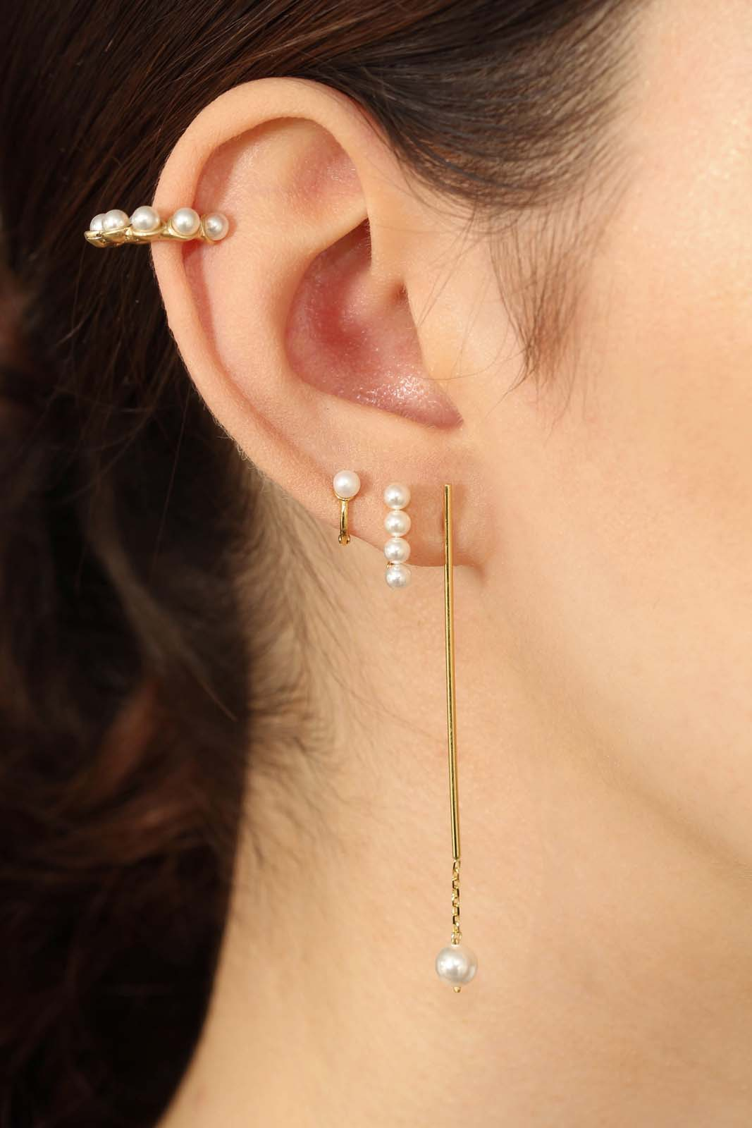 Gold pearl ear cuff1sx
