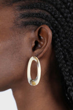 Load image into Gallery viewer, Large ivory irregular circle earrings1sx