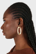 Load image into Gallery viewer, Large ivory irregular circle earrings2