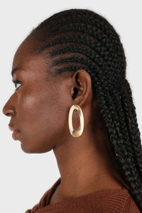 Large ivory irregular circle earrings2
