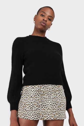 Ivory animal print mini skirt1sx