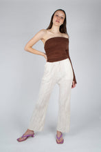 Load image into Gallery viewer, 22042_Ivory brushed velvet flare trousers_MFFBA2