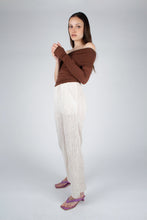 Load image into Gallery viewer, 22042_Ivory brushed velvet flare trousers_MFSBA1