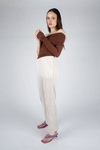 22042_Ivory brushed velvet flare trousers_MFSBA1