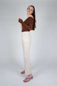 22042_Ivory brushed velvet flare trousers_MFSBA2