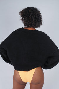 Black perfect oversized cardigan_MCBBA1