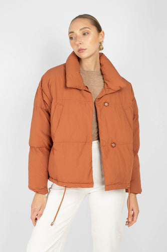 Rust orange cropped puffer jacket1sx