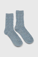 Load image into Gallery viewer, Baby blue rainbow fleck thick socks3