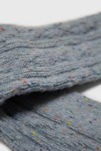 Load image into Gallery viewer, Baby blue rainbow fleck thick socks4