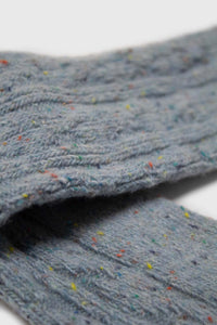 Baby blue rainbow fleck thick socks4