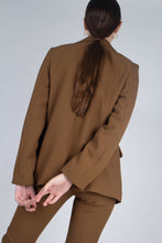Load image into Gallery viewer, 22103_Mustard single breasted classic suit blazer_MCBBA1