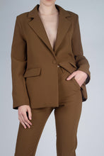 Load image into Gallery viewer, 22103_Mustard single breasted classic suit blazer_MCFBA3