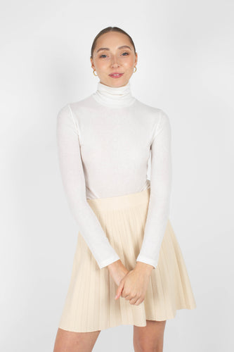 Ivory thin micro ribbed turtleneck top1sx