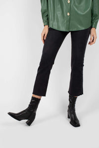 Washed black boot cut jeans - 3262
