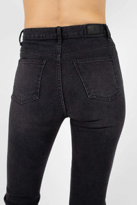 Washed black boot cut jeans - 32624
