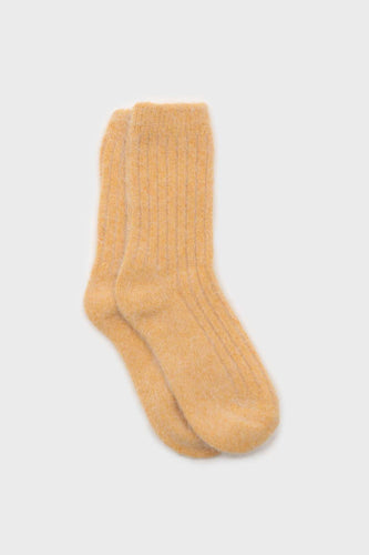 Mustard large ribbed angora socks1sx