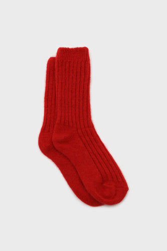 Red large ribbed angora socks1sx