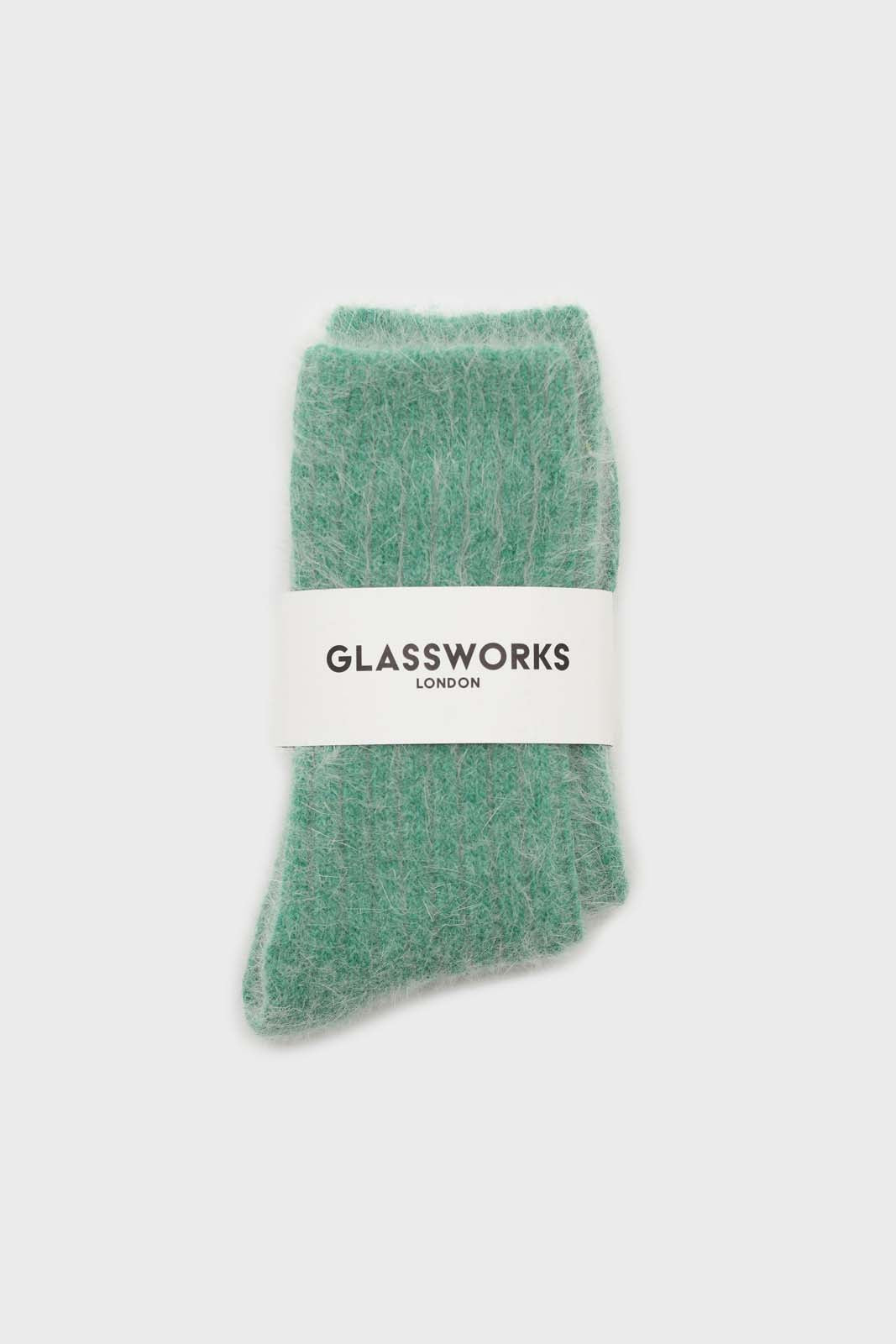 Green large ribbed angora socks2