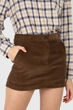 Load image into Gallery viewer, Brown corduroy mini skirt1
