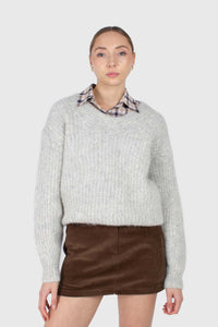 Brown corduroy mini skirt2