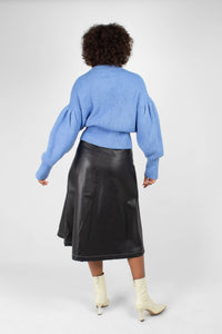 Blue dropped puff sleeved jumper2