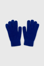 Load image into Gallery viewer, Cobalt blue mohair gloves1