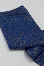 Load image into Gallery viewer, Cobalt blue metallic smooth top long socks_PFDBA1