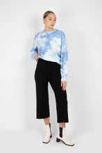 Load image into Gallery viewer, Black wide leg knit trousers1sx