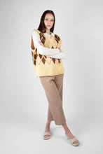 Load image into Gallery viewer, Beige wide leg ribbed knit trousers2