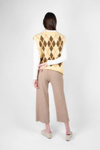 Load image into Gallery viewer, Beige wide leg ribbed knit trousers3