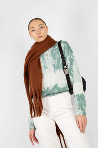 Camel fuzzy thick scarf - 826