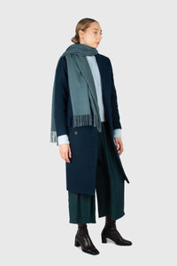 Teal soft classic long scarf - 93311