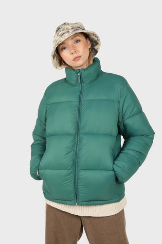 Teal thick classic puffer jacket1