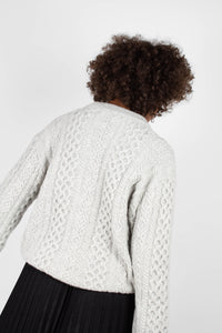 Grey thick wool cableknit jumper5