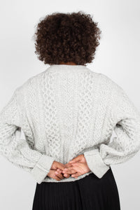 Grey thick wool cableknit jumper6