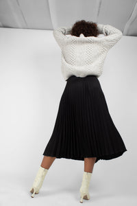 Grey thick wool cableknit jumper8