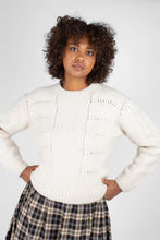 Load image into Gallery viewer, Ivory textured alpaca soft jumper1