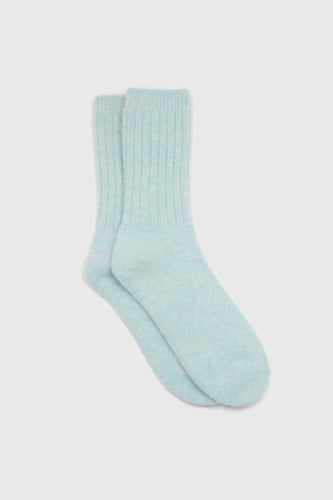 Mint green ribbed angora long socks1sx