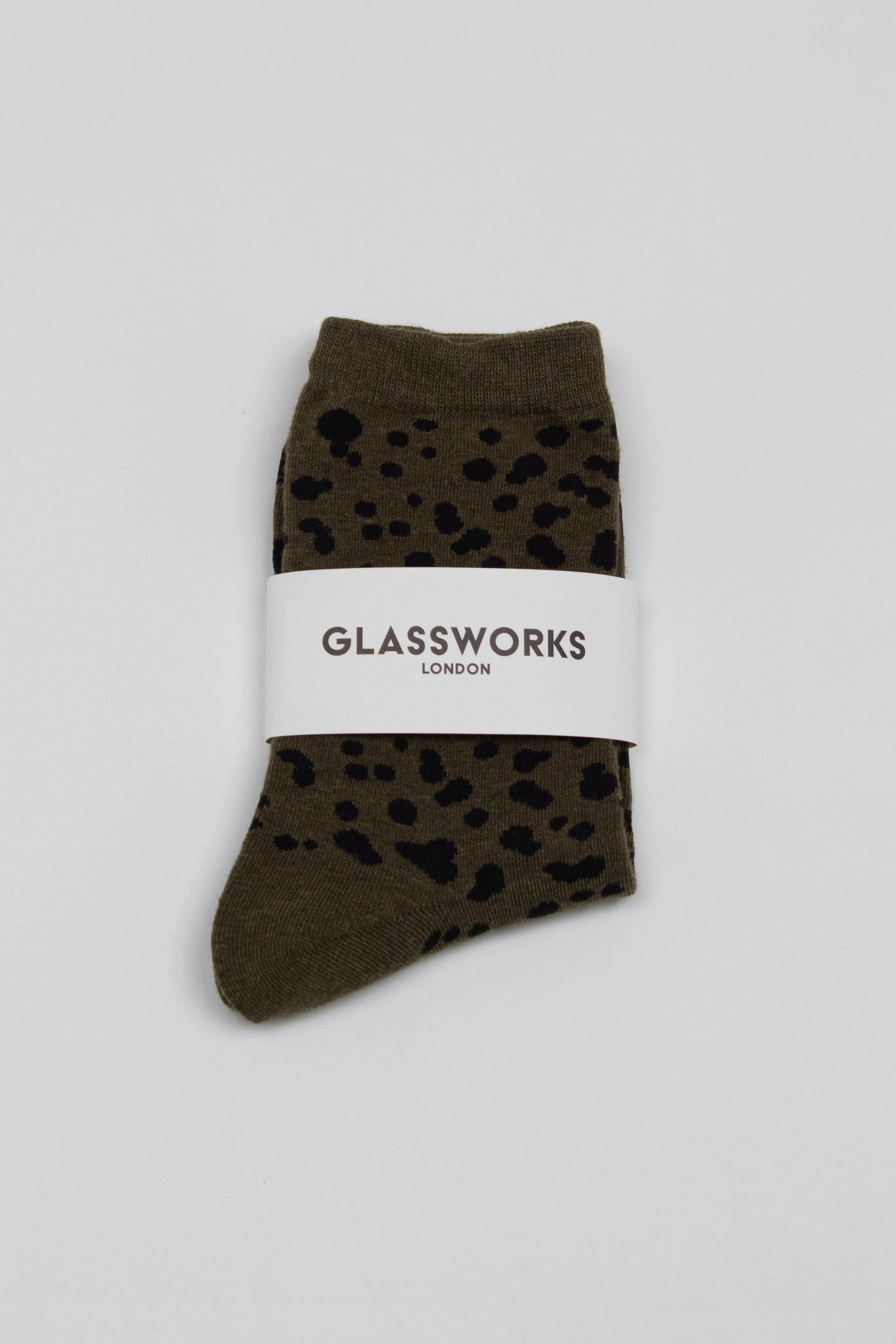 Khaki and black leopard socks_PFFBA1