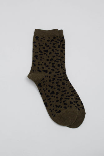 Khaki and black leopard socks_PFFBA2