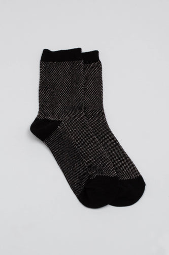 Black and silver glitter textured socks_PFFBA2