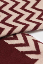 Load image into Gallery viewer, Burgundy zig zag long socks. 3